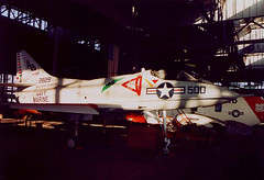 US Navy, Douglas A-4 Skyhawk, 142829 at Floyd Bennett Field, Brooklyn, New York, USA. Dec 2001 (Tom Turner - SeaTeamImages / AirTeamImages) Tags: city nyc newyork classic brooklyn plane vintage airplane airport unitedstates aircraft aviation military transport hangar navy jet spot historic transportation preserved douglas usnavy bigapple usn carrier skyhawk spotting warbird jetplane floydbennettfield fuselage unitedstatesnavy floydbennett tomturner usanavy 142829 douglasa4skyhawk a4d2 douglasa4bskyhawk