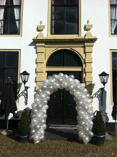 Ballonboog 5m Zilver en Wit Kasteel van Rhoon