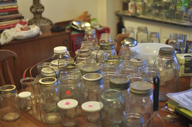 post-vacation sea of jars