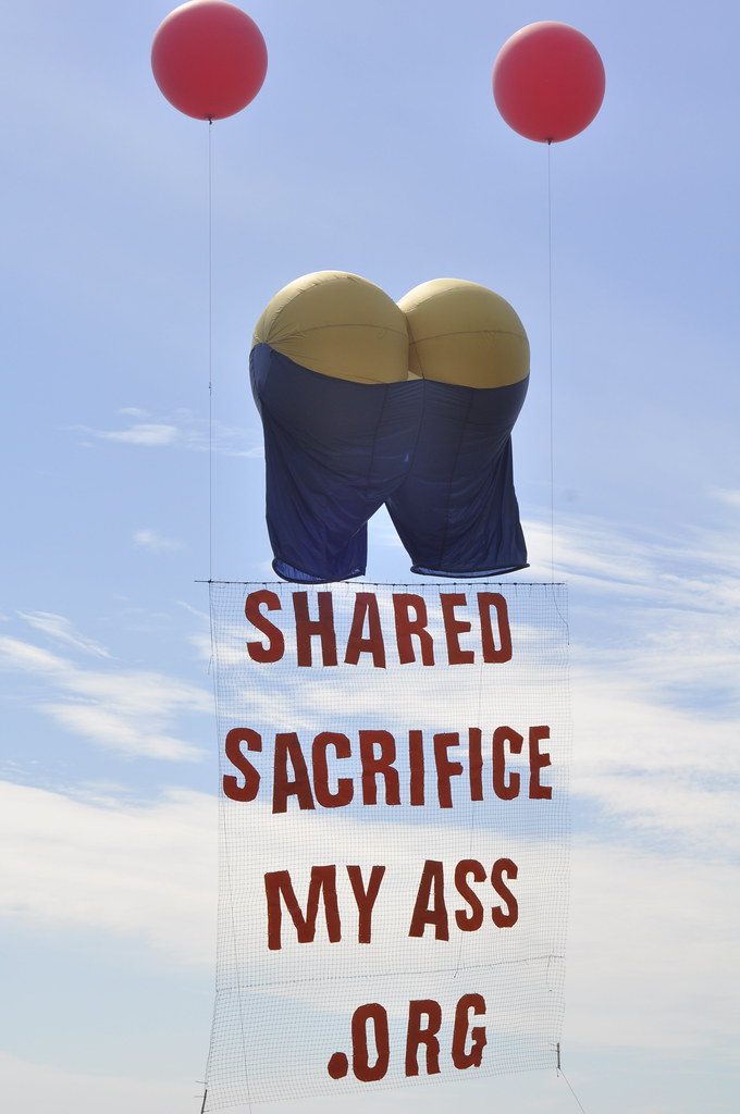 Shared Sacrifice My Ass Banner