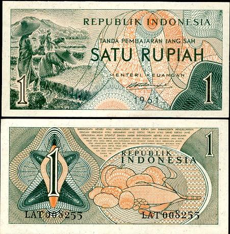 1 Rupia Indonézia 1961, Pick 78
