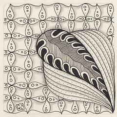 Weekly Challenge 36 (Amaryllis Creations) Tags: penink zentangle