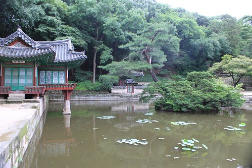 Buyongji and Juham-ru and vicinity. Changdeokgung Palace, Seoul South Korea