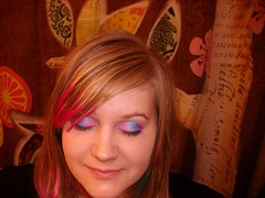 Eyeshadow (Maria Clarite) Tags: pink blue colors hair fun style tips dye eyeshadow layered cosmetology