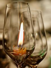 Verres et bougie (JMVerco) Tags: light glass lumire luce bicchiere bougie verres flickrchallengegroup flickrchallengewinner sailsevenseas newgoldenseal blinkagain bestofblinkwinners