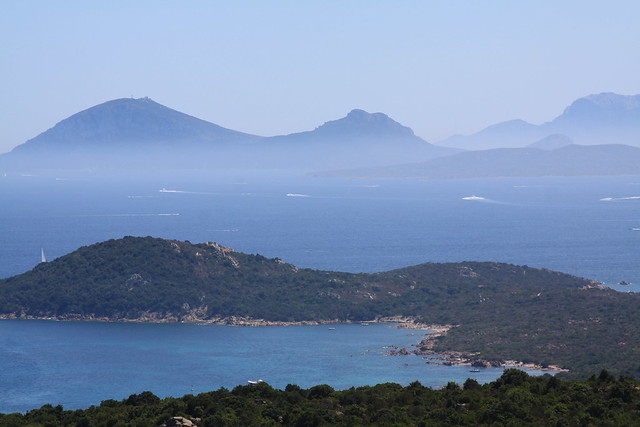 Costa Smeralda and the Capo Figari in the distance...