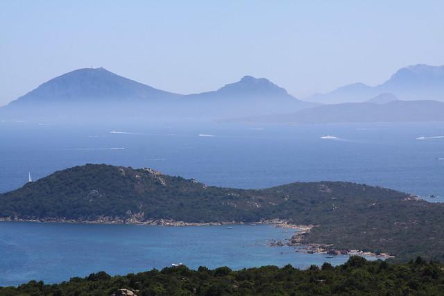 Costa Smeralda and the Capo Figari in the distance...
