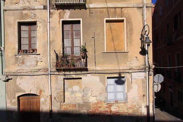 Facade in Cagliari's Old Town