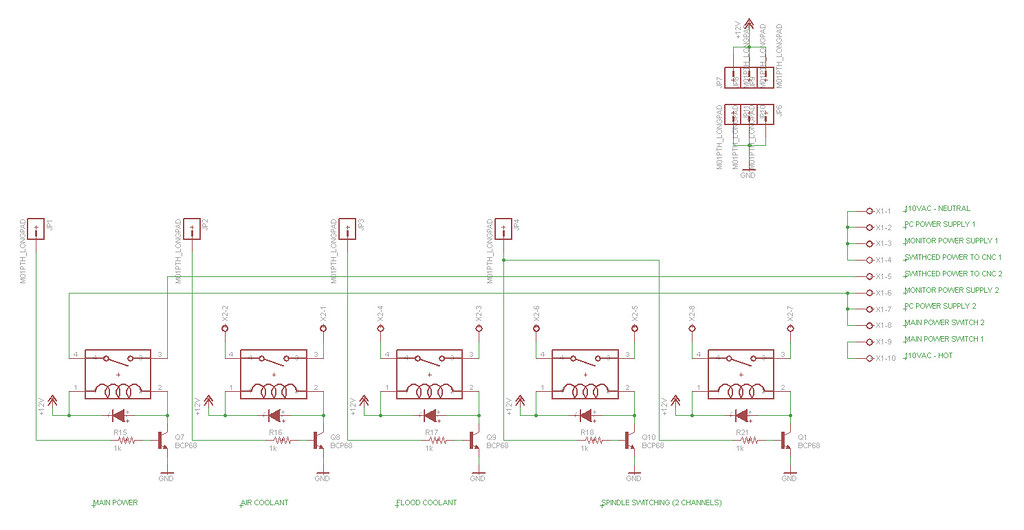 CNC mill - relay board schematic