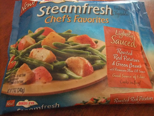 Steamfresh Roasted Red Potatoes and Green Beans packaging