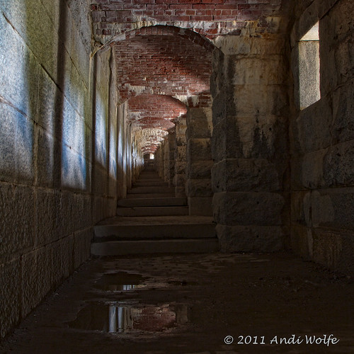 Stairway at Fort Knox, Maine by andiwolfe