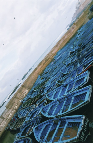 The Blue Boats of Essaouira by alison lyons photography