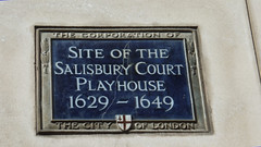 Photo of Salisbury Court Playhouse blue plaque