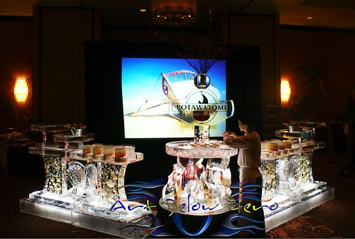 Potawatomi Casino Dessert Station ice sculpture