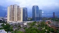 Galleria to the West (MichaelB in Houston) Tags: weather clouds buildings texas houston storms thegalleria urbanarea