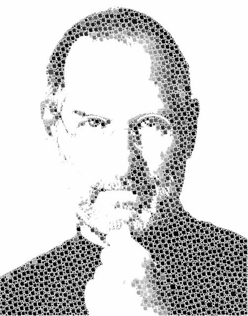 Steve Jobs in Apples. CC Entertailion, flickr