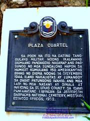 Plaza Cuartel marker (Joanna Jane Liwag) Tags: puertoprincesa palawan butterflygarden crocodilefarm bakershill plazacuartel mitrasranch palawanwildliferescueandconservationcenter palawancitytour