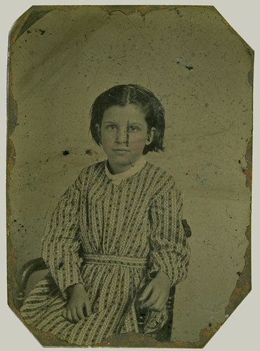 Tintype Girl in dress