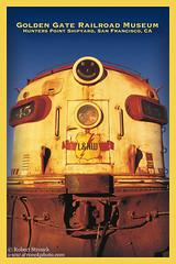 SP #6380 F7A  Golden Gate RR Museum (Bob Stronck) Tags: trains dieselelectriclocomotive gmelectromotivedivision goldengaterailroad ©rmstronck stronckphotocom emdmodelf7a southernpacific6380