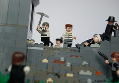 Prison Escape (Legoorci) Tags: new york family food ny death fight italian gun kill escape lego stones secret ghost rifle system pizza prison story sewage pistol iceman drug ba dynamite hiding alto thompson connection prisoner hideout mafi breach henchman freeing burtoni legoorci