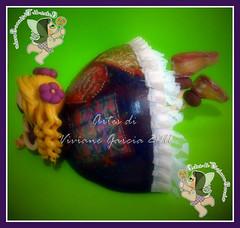 Namoradeira Pati (Artes di Viviane Garcia) Tags: doll bonecas dolls biscuit boneca decoração enfeite cabaça namoradeira elo7 vivianegarcia mandaladolls