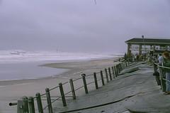 (darrenerbe) Tags: ocean summer seascape film beach 35mm newjersey aftermath pentax hurricane nj boardwalk my21stbirthday springlake pentaxmz30 hurricaneirene darrenerbe august28th2011