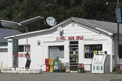 EZ4BZ NOW OPEN (NC Cigany) Tags: white signs ice rural store nc dish gasstation lottery atm conveniencestore 0004