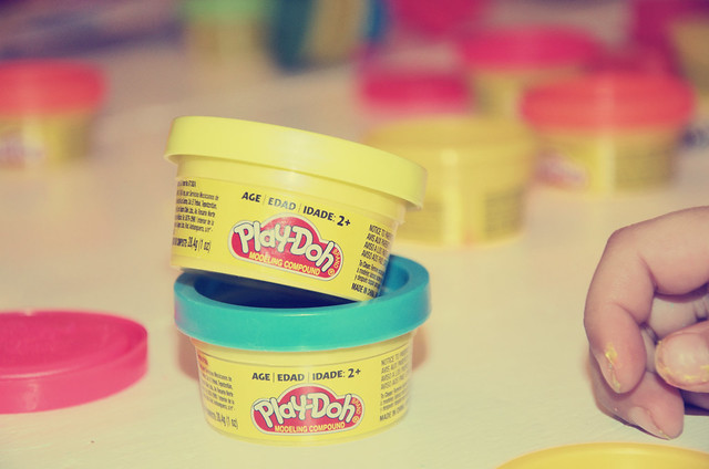 stacked playdough