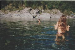 girls (warm__gun) Tags: camera girls summer italy water childhood kids analog 35mm vintage river children italia estate fiume retro piacenza disposable analogic torrente 2011 trebbia bobbio marsaglia vallevaltrebbia
