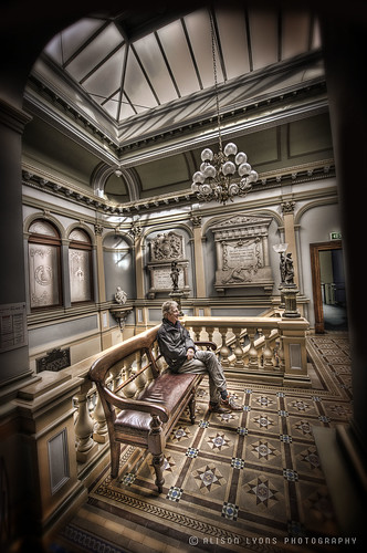 Waiting in the Town Hall by alison lyons photography