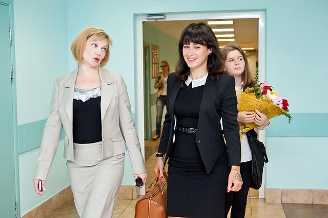 Тина Канделаки с учительницей дочери