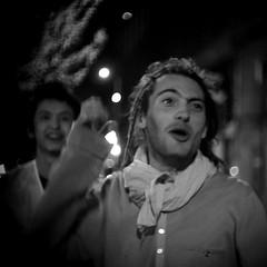 Out - Street Rage #006 (StefanoG.com) Tags: street portrait bw smile voigtlander strangers olympus 11 stranger rage 25 50 rue ep2 angenieux 095 voigtlander5011 angenieux25095 stefanotofs