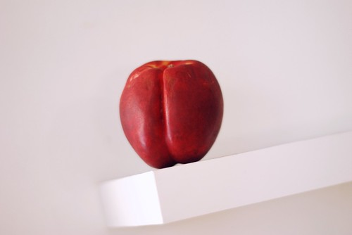 a tilted nectarine