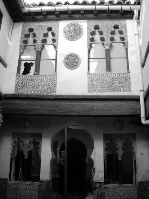 Patio de la Calle Santa Úrsula 11 antes de comenzar la obra del Colegio de arquitectos