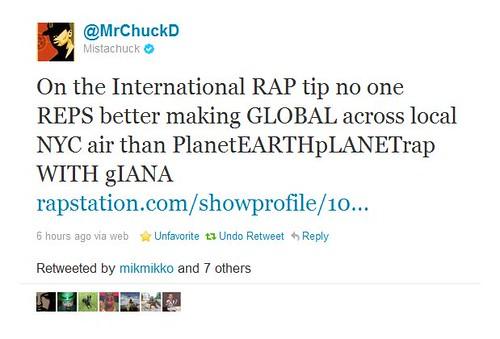 Chuck D PEPR Tweet