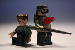 Wounded men (it) Tags: snow lego wwi trench german ww1 raid russian ft17 brickarms