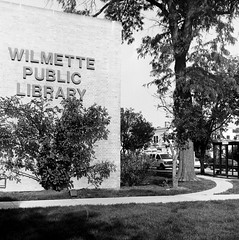 Wilmette Public Library (Yashica Mat first roll) (Fogel's Focus (fueled by coffee)) Tags: hc110 wilmette 20c 131 yashicamat sunny16 notraces dilutionb 6min kodakhc110 fomapan400 film:iso=400 fomafomapan developer:brand=kodak film:brand=foma developer:name=kodakhc110 film:name=fomafomapan400 filmdev:recipe=6947
