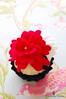 Bright Red! (Little Cottage Cupcakes) Tags: toy cupcakes felt peony littlecottagecupcakes