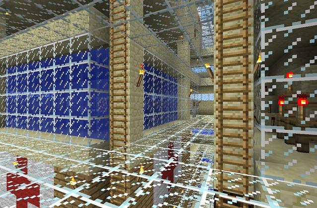 Aperçu de l'étage des machines (ici, le réacteur nucléaire, et la centrale haute tension).