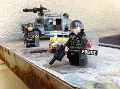 Apoc Riot Police (Kyle Hardisty) Tags: black rock riot blood apocalypse apoc warfare raider