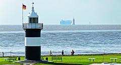 ND-0242_08082011_17'19-FZ100 (eduard43) Tags: lighthouse water harbor wasser weser hafen nordsee bremerhaven leuchtturm wremen nordseekste beachtower kleinerpreusse strandturm