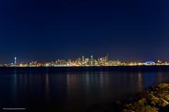 Seattle Skyline (Nick Mulcock) Tags: seattle longexposure water canon washington rocks long exposure space needle alki 5d spaceneedle mkii