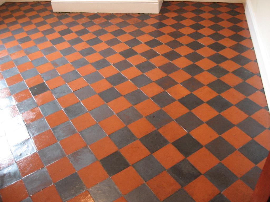 Restoring Quarry Tile Floor - The End Result