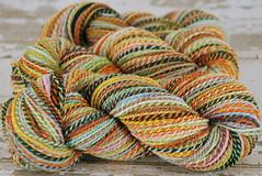 """""""Munki Sushi"""" 2ply sw merino handspun yarn"""
