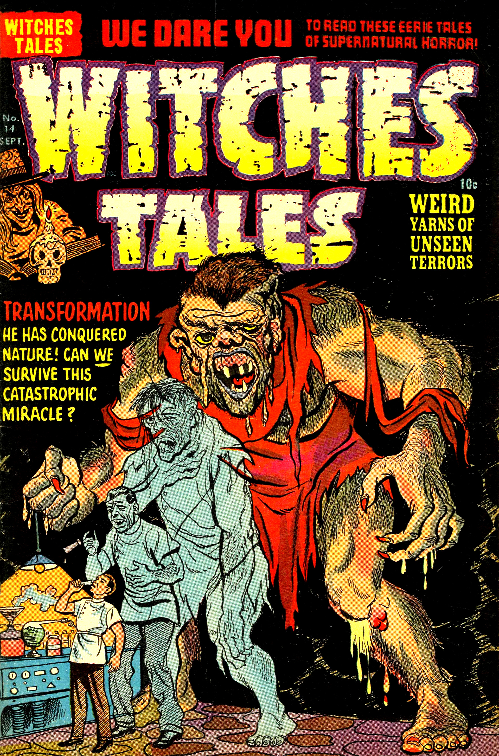 Witches Tales #14, Al Avison Cover (Harvey, 1952)