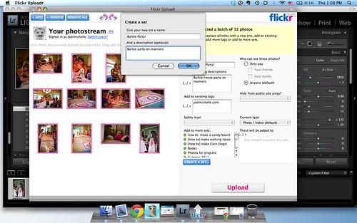 Using Flickr Uploadr