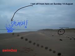 Hugh Hughes - #Swim2Oz - the day I set off