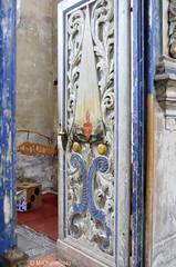 visiting Germany (MiChaH) Tags: door old blue summer church germany deutschland blauw interior interieur kerk oud stralsund duitsland deur 2011 houtsnijwerk
