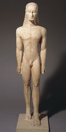 The first Greek nude sculpture, excluding the small Cycladic figurines... ...