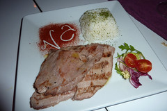 Presa iberica con arroz basmati